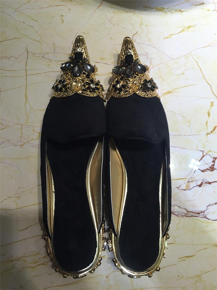 Flock As Zapatillas Mujeres Lujo Cuadrado Eunice Elegante Mujer Oro En Tallado Metal De Choo Picture Zapatos Mulas Cristal Toe Negro Tacón xgwF0Hx7