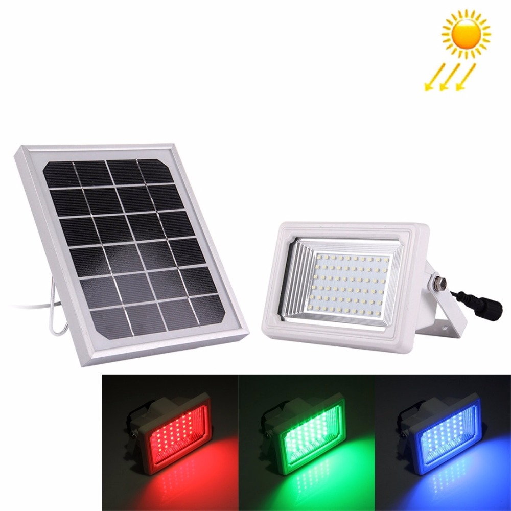 RGB Floodlight With Remote Controller Solar Powered Spotlight 3W 30leds Flood Lamp Waterproof Garden Outdoor Camping Work Light ultrathin led flood light 200w ac85 265v waterproof ip65 floodlight spotlight outdoor lighting free shipping