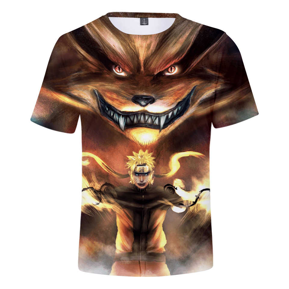 2019 Naruto TShirt Best Selling Anime 3D Printing T-shirt Fashion Round Neck Short Sleeve Popular Japanese Streetwear Plus Size