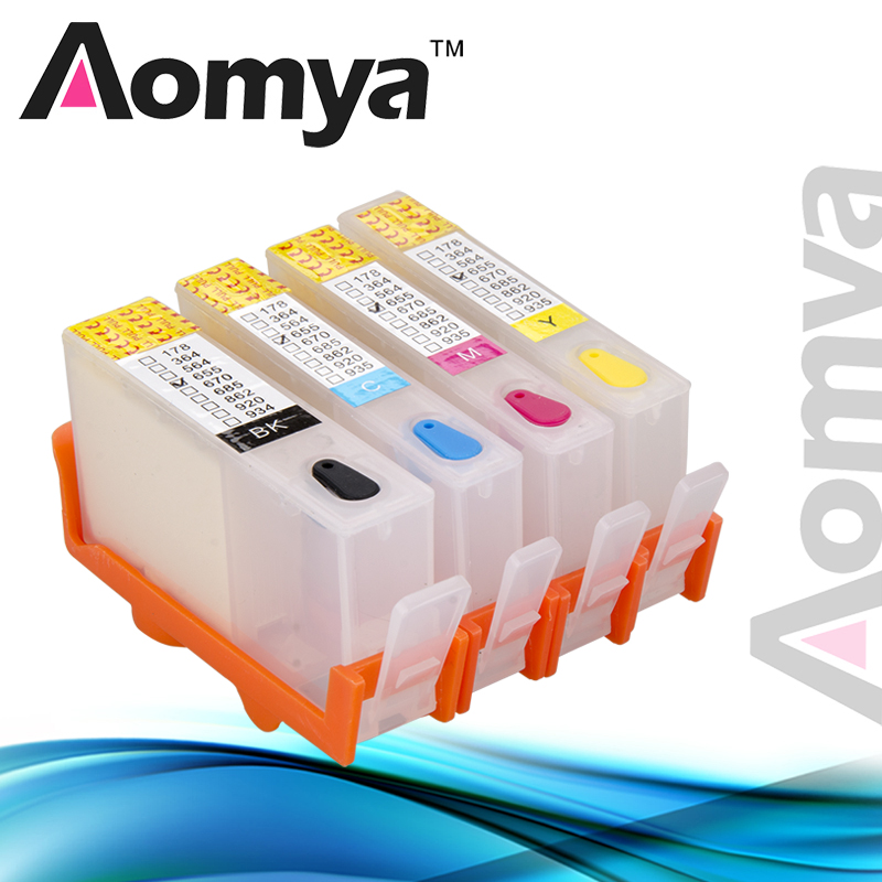 Aomya Cartridge Compatible For HP 655 Refill Ink Cartridge for HP Deskjet 3525 4615 4625 6520 6525 Printer For hp 5525 Cartridge image