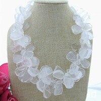 N042112 20 2Strands Natural White Quartz Crystal Necklace