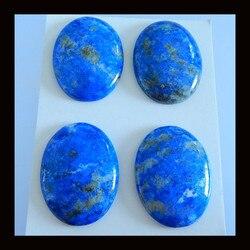Verjaardagscadeau 4 PCS natuursteen Lapis Lazuli grote hanger Cabochon, sieraden accessoires 40x30x7mm, 60g