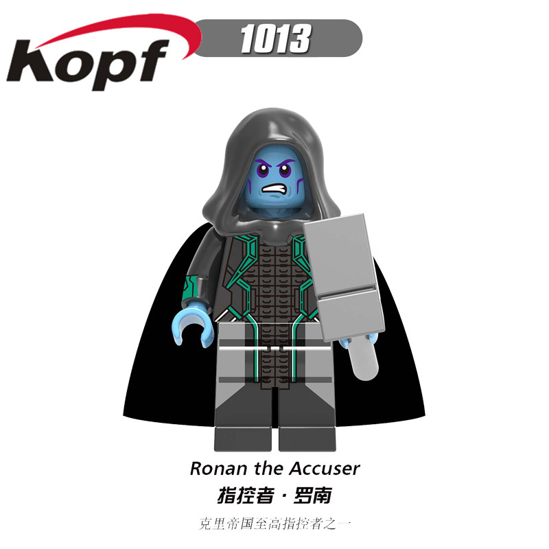 Single Sale Super Heroes The Accuser Figures Ronan Bricks Model Building Blocks Gift Toys  For Children XH1013