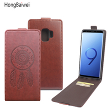 HongBaiwei for Samsung Galaxy S9 Flip Case Fashion Embossed Leather Cover Case for Samsung Galaxy S9 5.8'' Vertical Back Cover