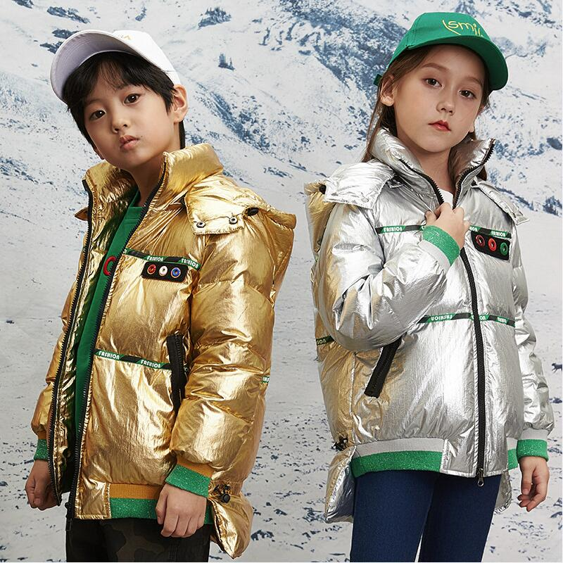 Girls Down Outerwear & Coats Winter Clothes For Girl Boy Down Jacket Thick Warm Kids Down Jacket Boy Clothes Children Clothing купить недорого в Москве