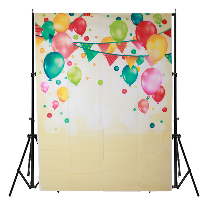 5x7FT Birthday scenery balloon vinyl Photography Background For Studio Photo Props Photographic Backdrop Cloth 1.5m x 2.1M heart shap balloons photography backgrounds scenery photo backdrop for photo studio photographic background fotografia props