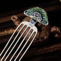 JO'SYJSP Vintage Flower Hair Combs Metal Hair Clip Hairpins for Women Hair Accessories Hair Claws