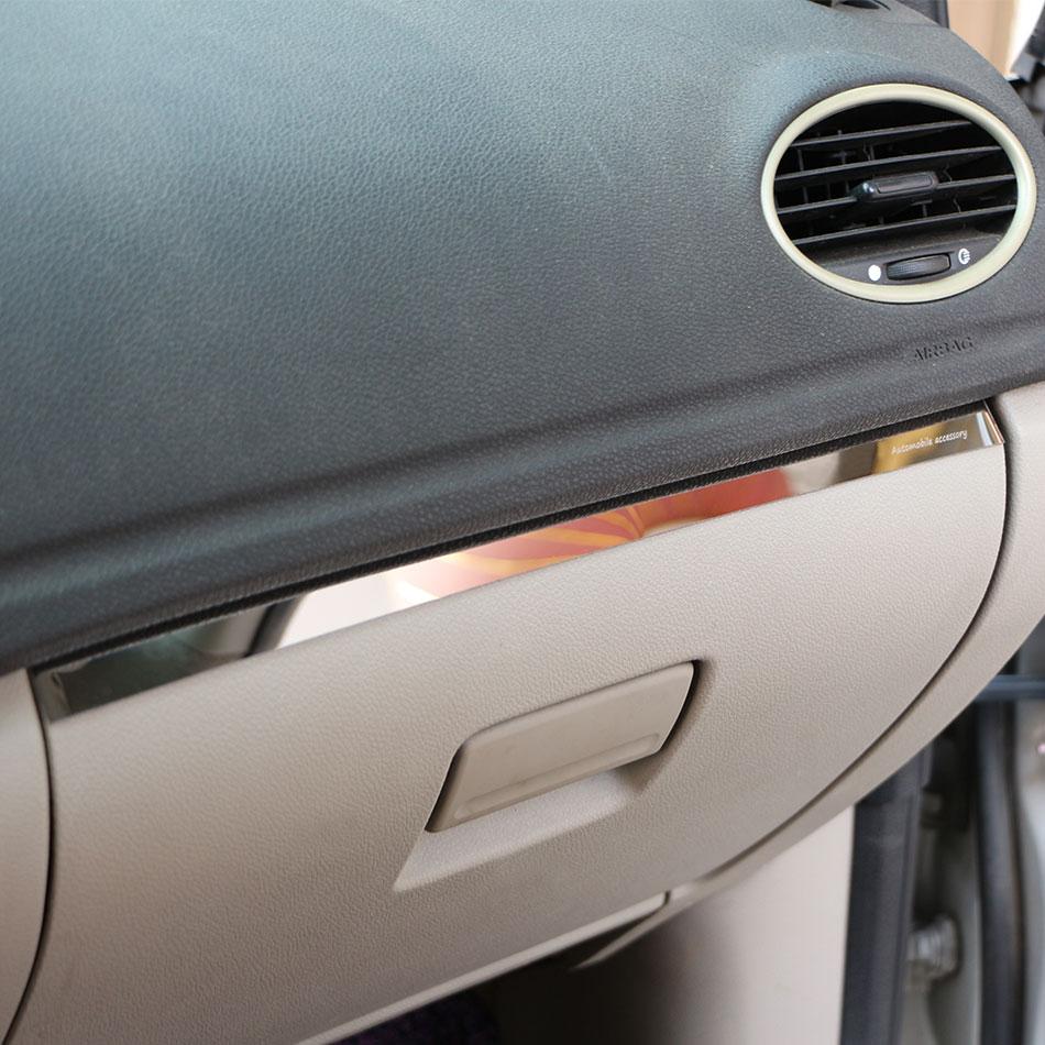1Piece Stainless Steel Car Glove Box Copilot Storage Sequins Sticker Trim Fit for Ford Focus 2