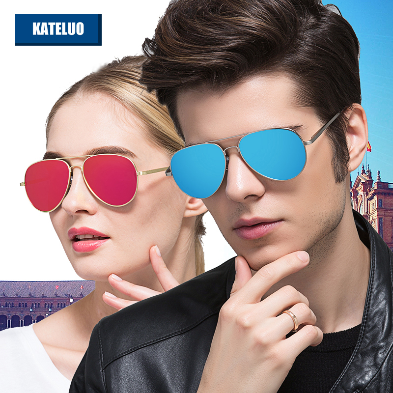 KATELUO Fashion Sun Glasses Polarized Coating Mirror Classic Men's Sunglasses Male Eyewear Accessories For Men/Women 0922