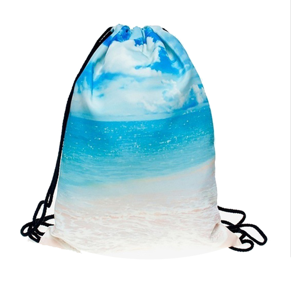 Lovely 3D Printed Unisex Backpacks Bags Drawstring Rucksacks Big Capacity Schoolbag For Young Men & Women(blue)