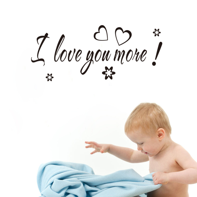 I Love you vinyl sticker Wholesale waterproofing can be removed Bedroom living room home decor pvc Generation wall stickers
