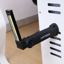 1*COB LED  lamp USB Rechargeable Built in Battery LED Light  with Magnet Portable Flashlight Outdoor Camping Working Torch
