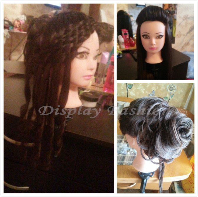 New Arrival Mannequin High Quality 80% Human Hair Mannequin Head For School Practise Hairstyling Professional Training Head