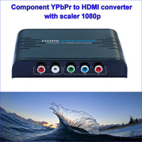 2017 New Component Video(YPbPr) to HDMI converter box transforms HD component video YPbPr and Audio R/L to HDMI output 1080p