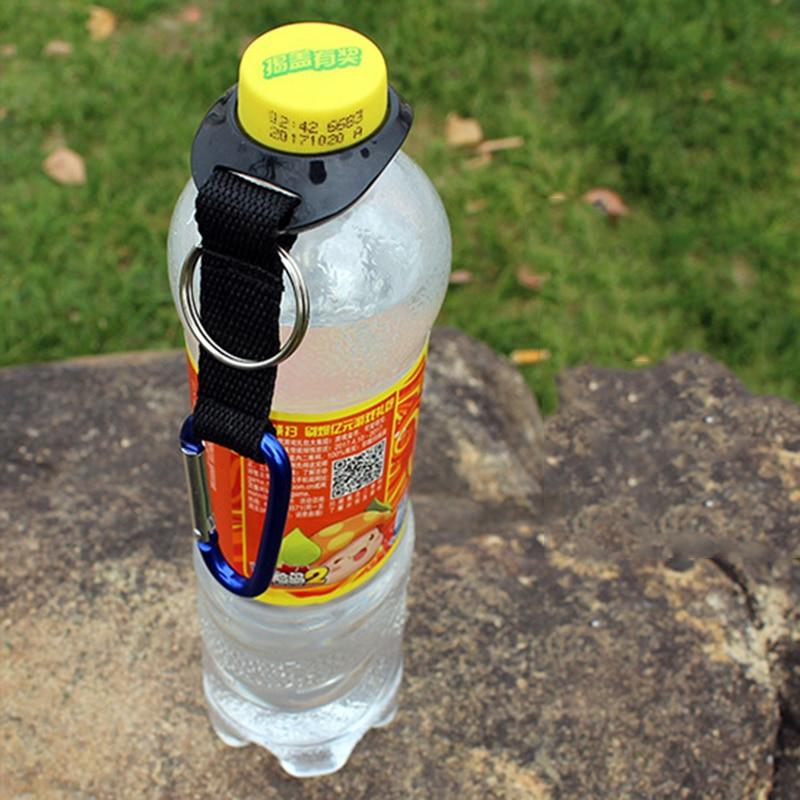 2x Carabiner Water Bottle Buckle Hook Holder Clip Camping Outdoor Useful PB