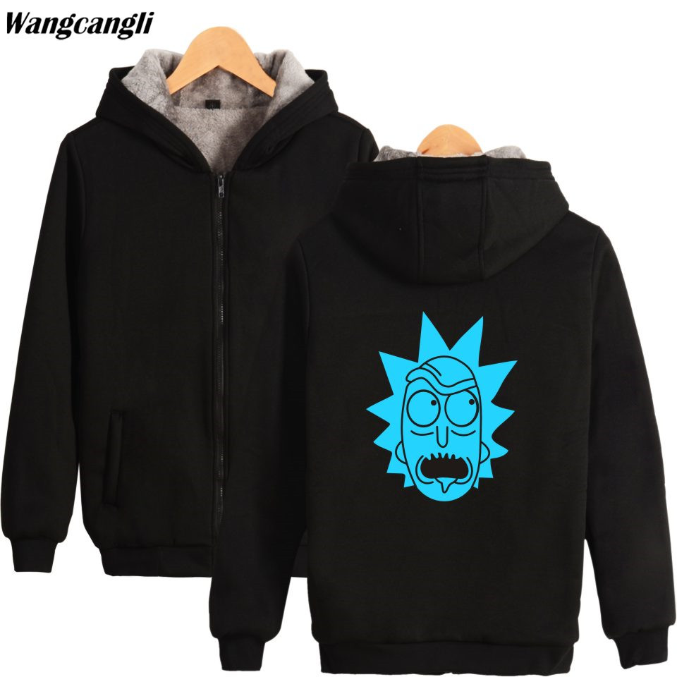 BTS Fashion Brand Winter Thickening Warm Hoodies Men/Women Anime Printed Hoodie thicker Sweatshit With Hat Winter Jacket Coat