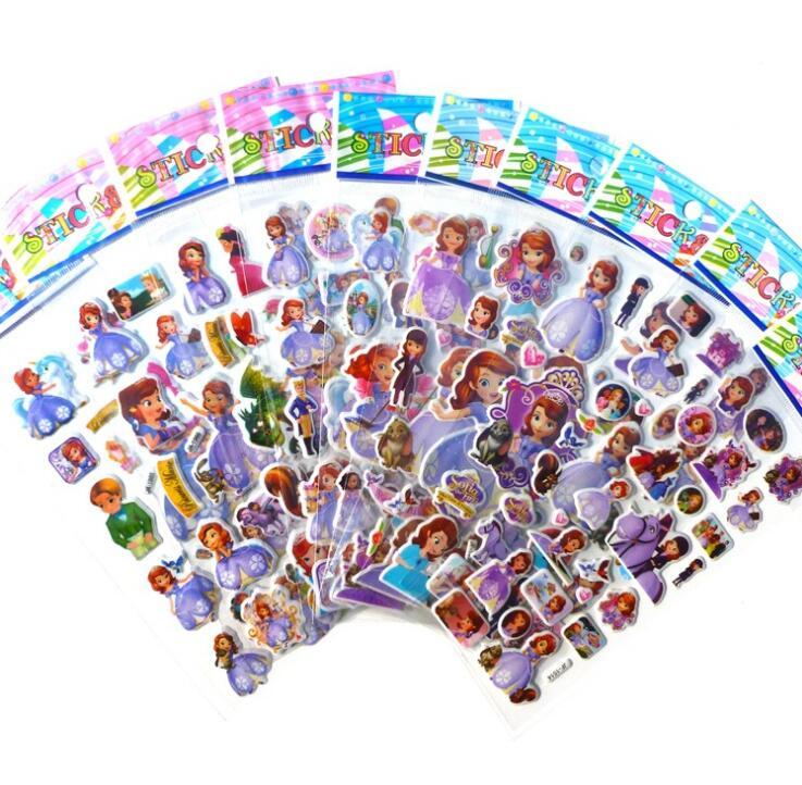 6pcs/set cartoon Snow White cute stickers for kids rooms Home decor Diary Notebook Label Decoration toy Princess 3D sticker 3sheets set fireman sam engineer bob stickers for kids home wall decor on laptop cute cartoon mini 3d foam sticker fridge doodle