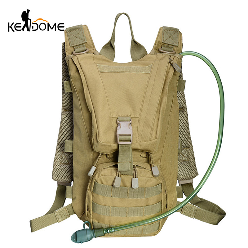 2.5L Water Bag Tactical Backpack Bladder Hydration Military Knapsack Outdoor Camping Hiking Molle System Camouflage Bags XA306WD