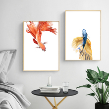100% Hand Painted Morden Golden Fishs Art Oil Painting On Canvas Wall Adornment Pictures For Live Rooms Home Decoration