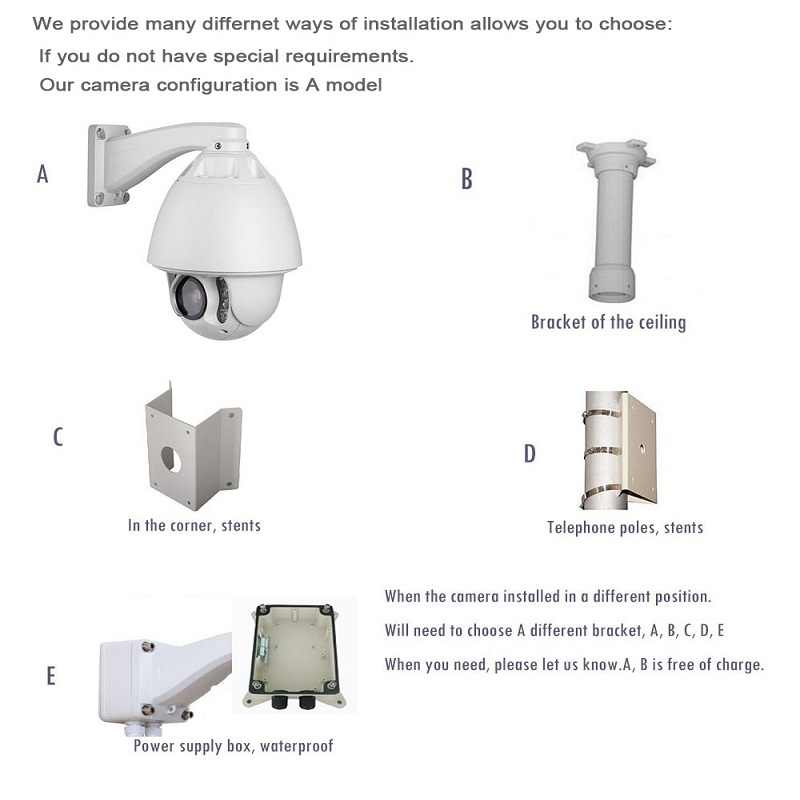 IMPORX CCTV caméra IP PTZ caméra HD 2MP 30x Zoom réseau Onvif P2P 150M IR infrarouge Vision nocturne caméra Wifi étanche avec POE