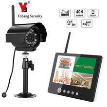Big discount YobangSecurity 9 inch TFT Digital Wireless Camera Audio Video Baby Monitor 4CH DVR Security System With IR night light Camera