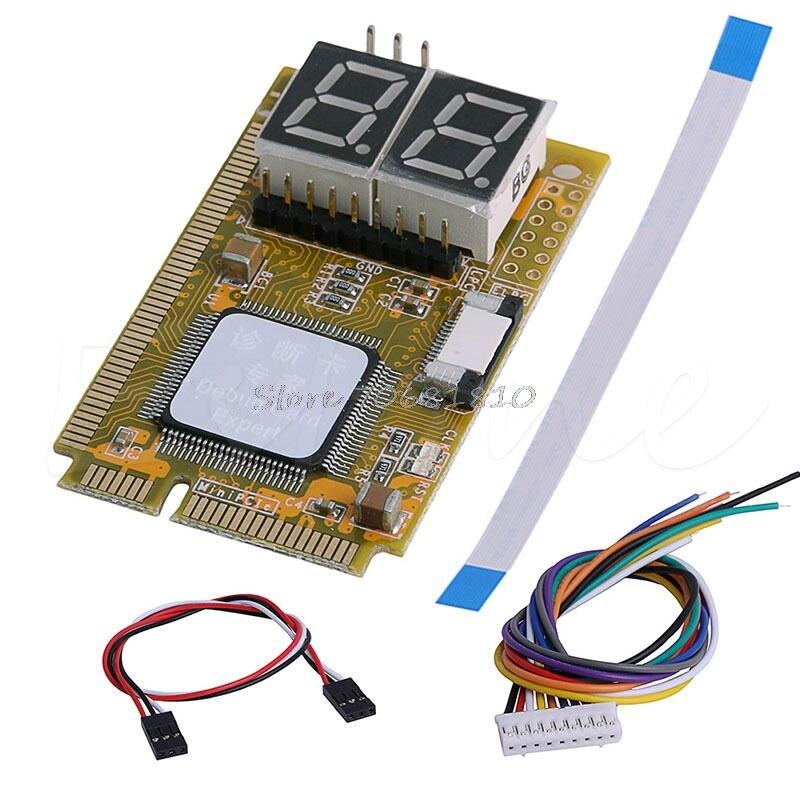 5 En 1 diagnosticar prueba de depuración tarjeta mini PCI I2C pci-e LPC elpc para portátil