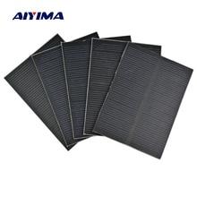 AIYIMA 5Pcs 5.5V Monocrystalline Solar Panels Sun Power Regulator Charging Solar DIY Rechargeable Battery Solar System 61x84mm