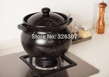 цена на Chinese 5L 4KGS ceramic sand pot cookware stock porridge earthen pot saucepan marmite stew soup stew tureen casserole pan