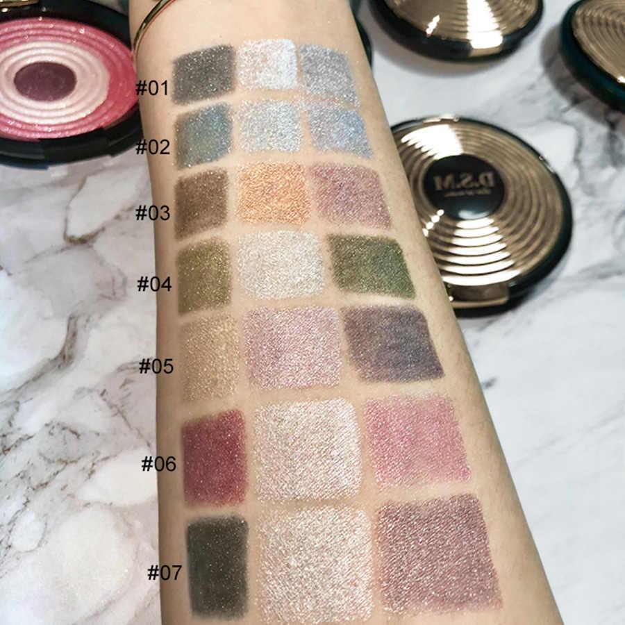D.S.M, Профессиональные Тени для век, 3 цвета, макияж для глаз, не размазываются, водонепроницаемые тени для век, макияж, пигмент, минерализация, палитра теней для век