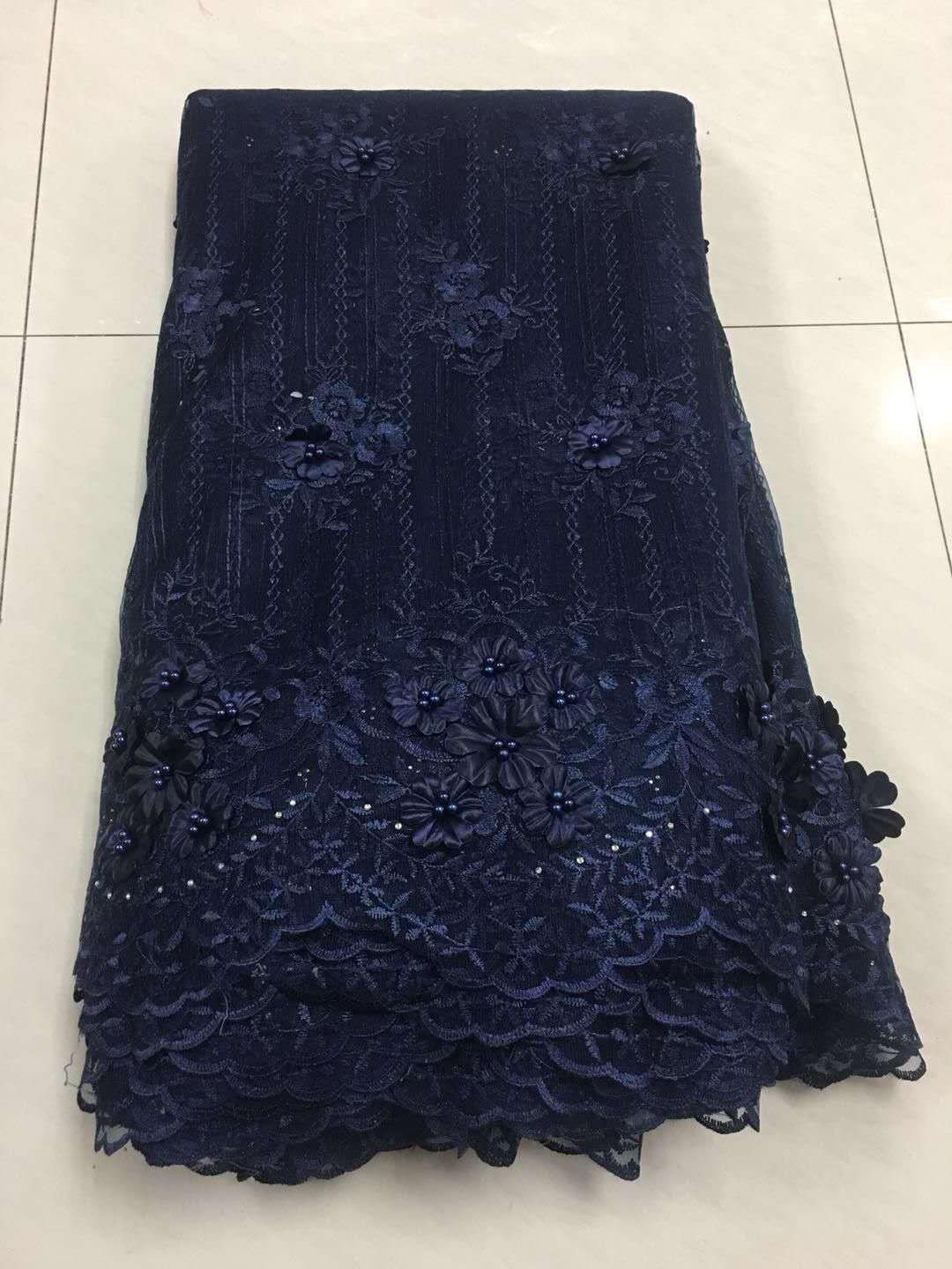 2019 Best Sail African Lace Fabric Swiss Voile Lace High Quality Emboridery French Net 3D Flowers