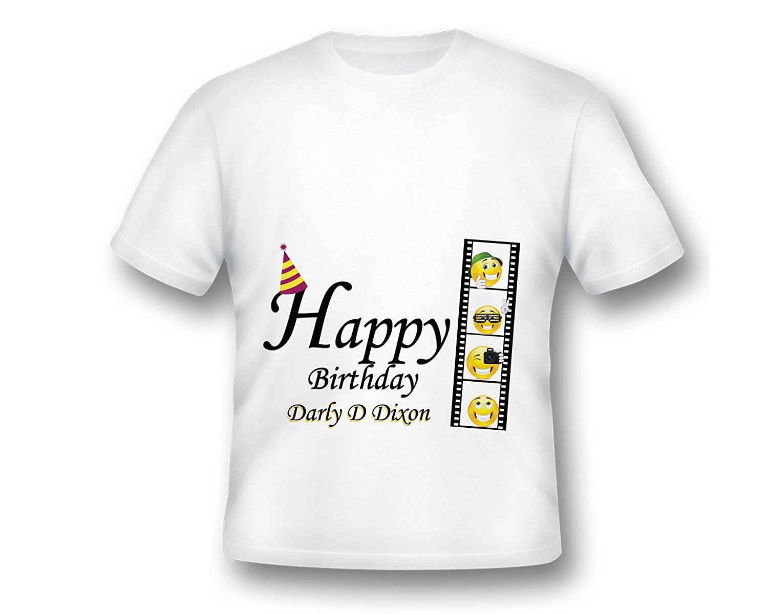 2018 New Summer Men Hot Sale Fashion Custom Movie Emoji Birthday T Shirt Film Printed Customized In Shirts From Mens Clothing Accessories On
