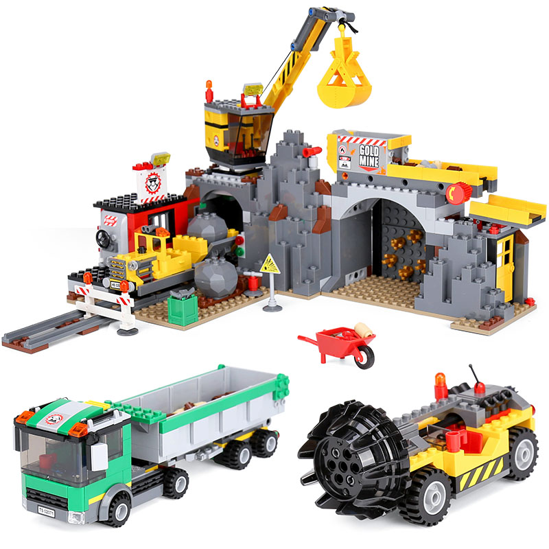 Lepin 02071 Genuine City Series The City Mine Set LegoING 4204 Building Blocks Bricks Educational Toys As Funny Christmas Gifts lepin 02052 genuine 1029pcs city series the fire station set 60110 building blocks bricks educational toys christmas gift model