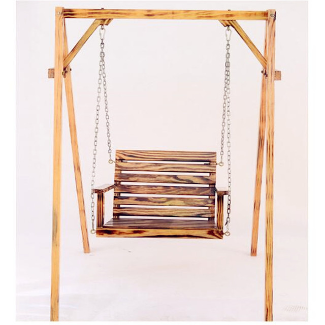 Children Adult Anti Corrosion Wood Hanging Chair Indoor And Outdoor Balcony  Rocking Chair Garden Swing