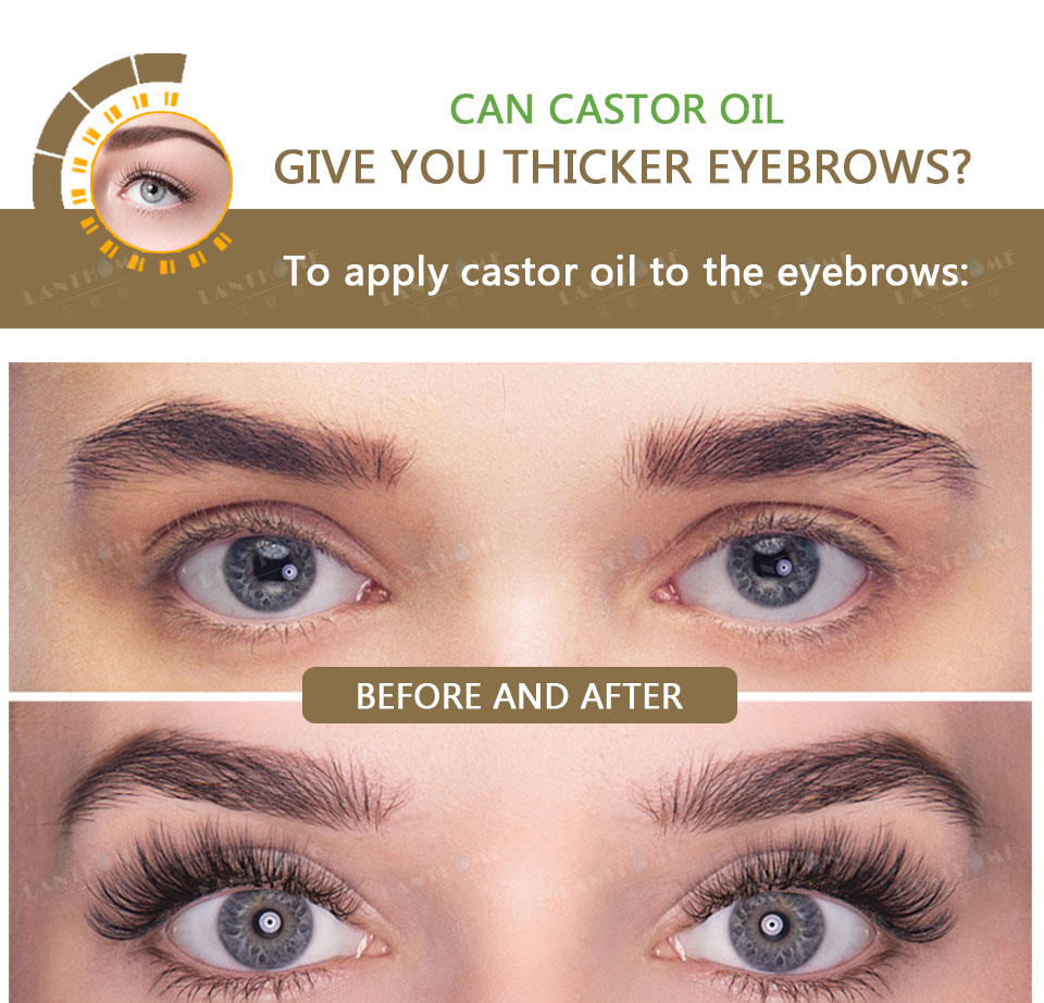 Castor Oil Hair Growth Serum For Eyelash Growth Lifting Eyelashes