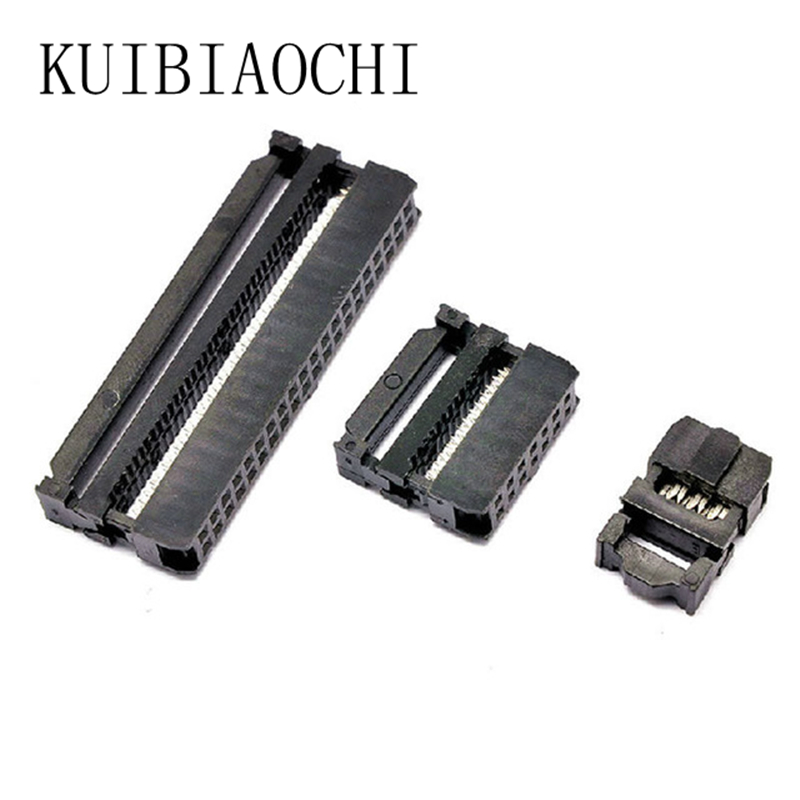 10 sets 2.54mm Connector Straight IDC Box Headers Connector 2.54mm Pitch Box Headers Female Connector