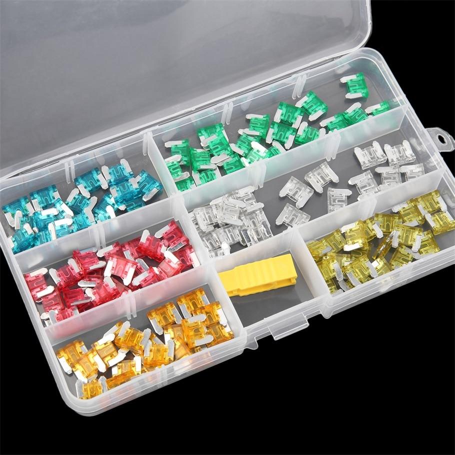 edfy 120 pcs low profile mini size blade fuse assortment set auto car truck fuses kit hot selling [ 910 x 910 Pixel ]