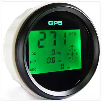 Waterproof Digital GPS Speedometer Odometer For Auto Marine Truck With 7 Color Backlight 3-3/8\'\' (85mm) 9-32V