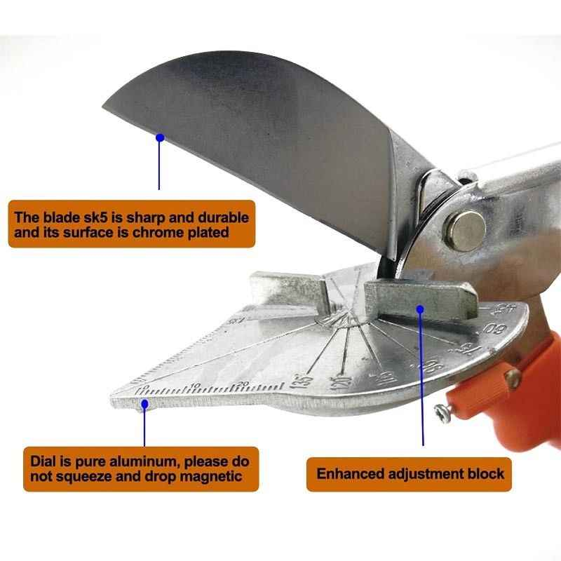 Retail 220mm 45 degree 90 degree Cable slot scissors edge card edge angle scissors multifunction angle scissors/wire slot cutter