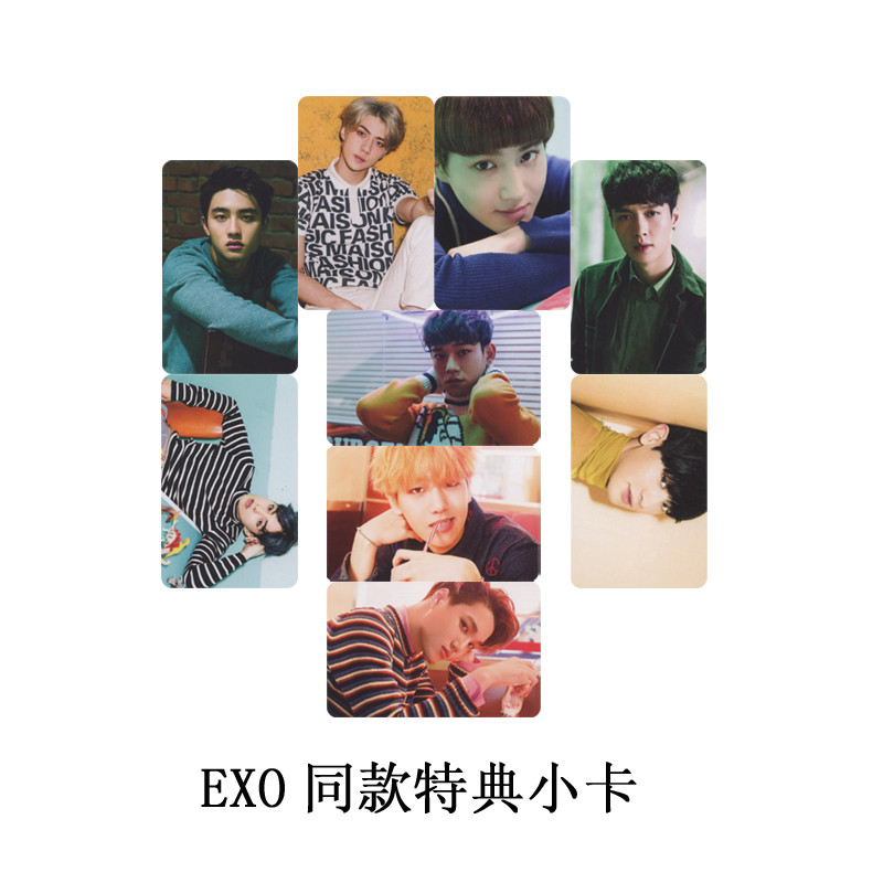 Youpop Wholesale Kpop Fan Exo Exo-k Exo-m Xoxo Wolf Exodus Overdose Album Small Cards Photos Photocard Comfortable And Easy To Wear Jewelry Findings & Components Beads & Jewelry Making