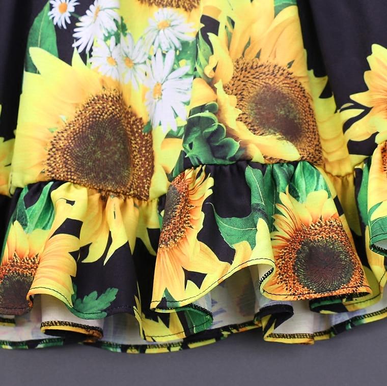 Sommerfrauen-Säuglingssonnenblumendrucke kleiden die - Kinderkleidung - Foto 3