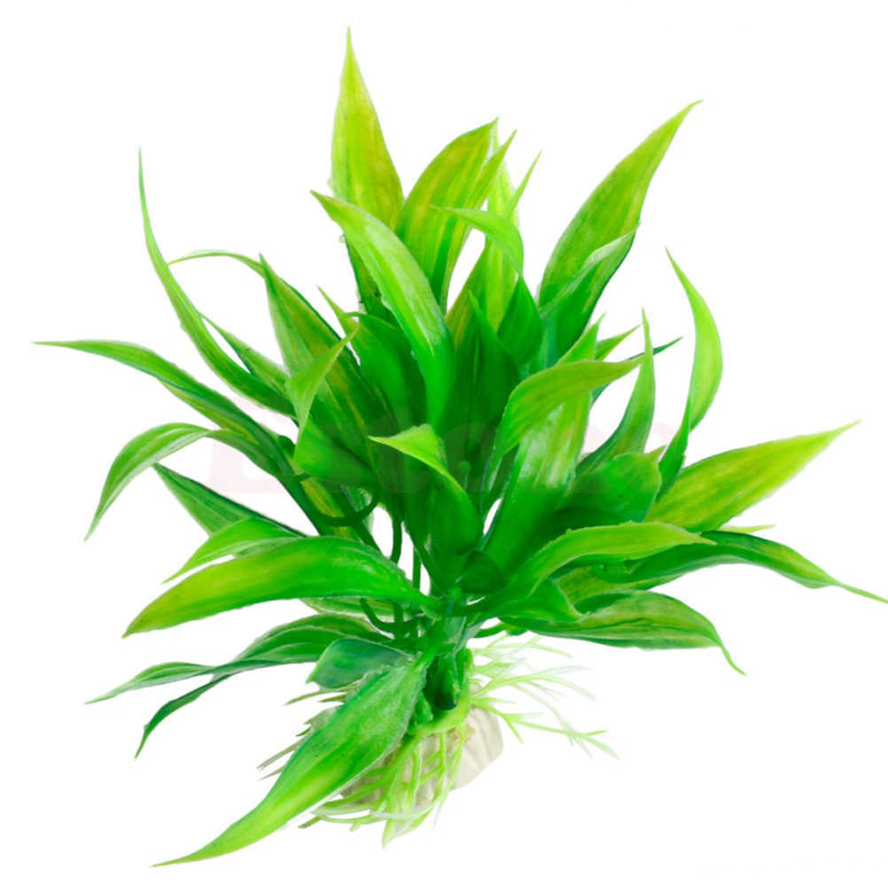 Artificial Plastic Green Plants Narcissus Water Grass Fish Tank Aquarium Decor Ornament
