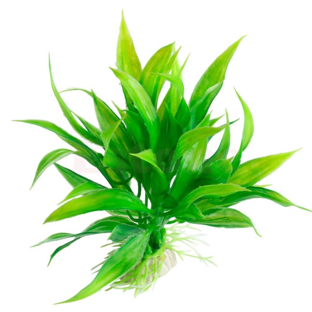Artificial Plastic Green Plants Narcissus Water Grass Fish Tank Aquarium Decor Ornament