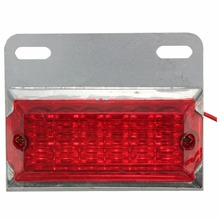 2Pcs 12LED Iron Clearance Lamp Side Marker Lights for 12V 24V Truck Trailer Lorry Caravan 2 pcs 6led car side marker lights clearance lamp for 24v vehicles truck trailer lorry