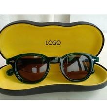 Johnny Depp Sunglasses Men Woman Green Acetate glasses Frame Polarized Sun Brand Driver Shade Box Top quality Q084