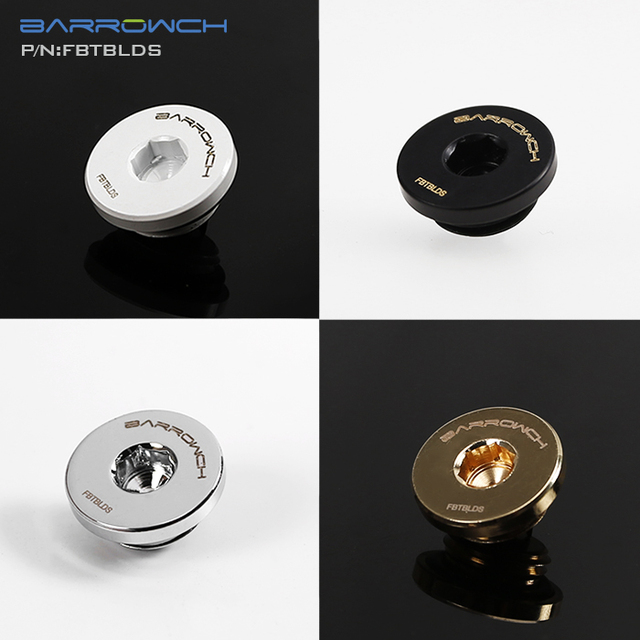 BARROWCH black,white,silver gold ultra thin water plug,sealing up lock ,cooling kit build fittings 6mm Hexagon  FBTBLDS