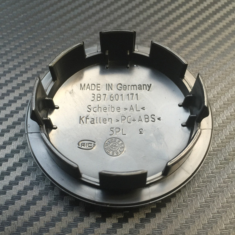 100pcs 65mm black car wheel center cap hub caps covers badge emblem For 3B7601171 3B7 601