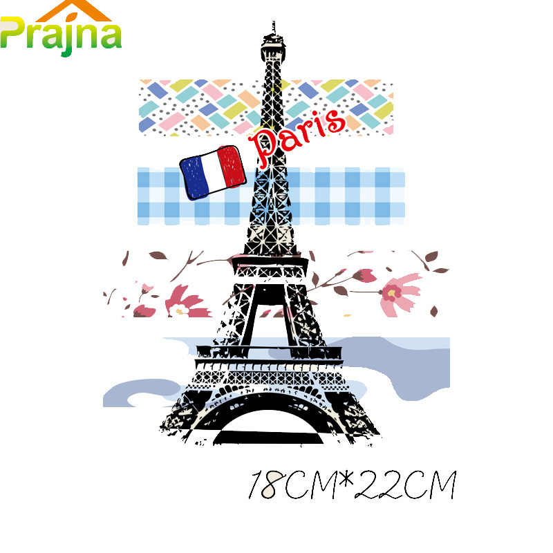 Prajna Iron On Transfers Paris Patches For T shirt Clothes Wholesale Heat  Transfer Vinyl Paper Sticker Logo Applique Press Paste