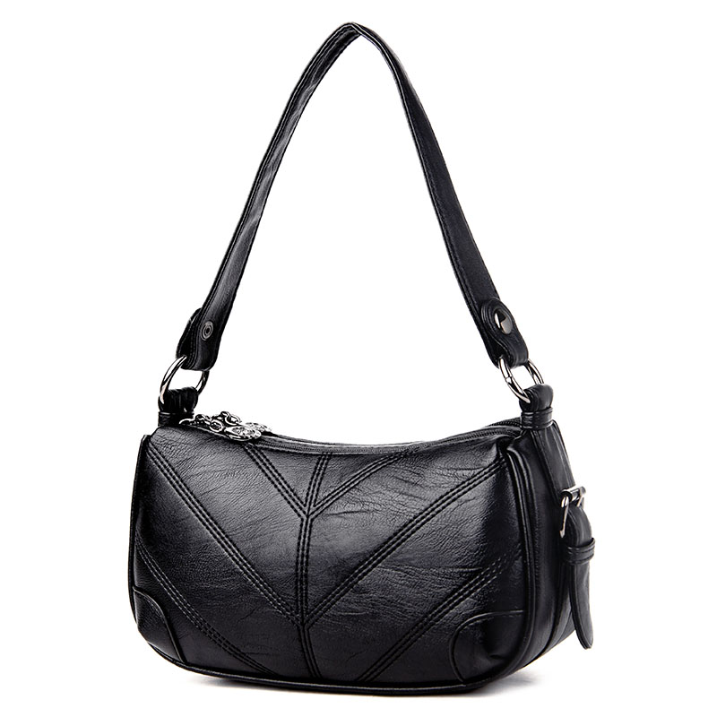 Women Genuine Leather Patchwork Saddle Shoulder Bags Designer High Quality Small Sheepskin Vintage Crossbody Bag Ladies