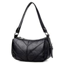 Frauen Aus Echtem Leder Patchwork Sattel Schulter Designer Hochwertige Kleine Schaf Vintage Crossbody Tasche Damen Handtaschen