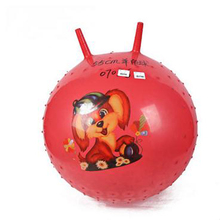 Outdoor Fun Sports Toy BallsThe Thicker The Children's Inflatable Toys Fitness Yoga Ball Bouncing Corner Horn Christmas Gifts
